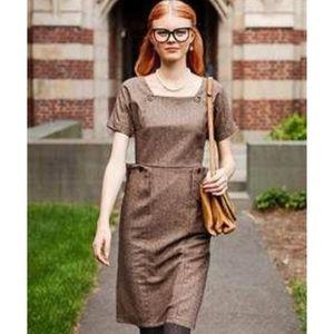 Shabby Apple Brown Tweed Dress